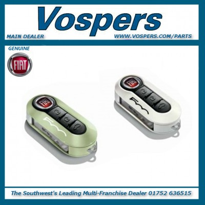 Genuine Fiat 500L Key Covers Twin Pack Light Green & Pastel White