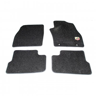 Fiat Punto Evo Abarth Velour Floor Carpet Mats (Black)