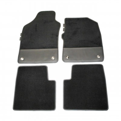 Genuine Abarth 500 595 Black Carpet Floor Mats New RHD 50928028