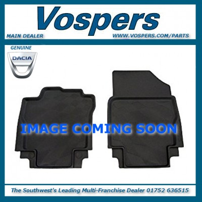 Genuine Dacia Logan MCV Front & Rear Rubber Mats With Raised Edges