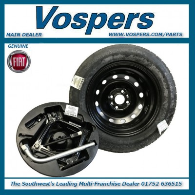 Genuine Fiat 500 Space Saver-Spare Wheel Complete Kit
