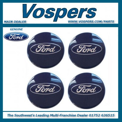 Genuine Ford (Most Models) 54mm Alloy Wheel Centre Cap x4