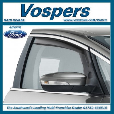 Genuine Ford S-MAX Dark Tint Climair Front Wind Deflectors