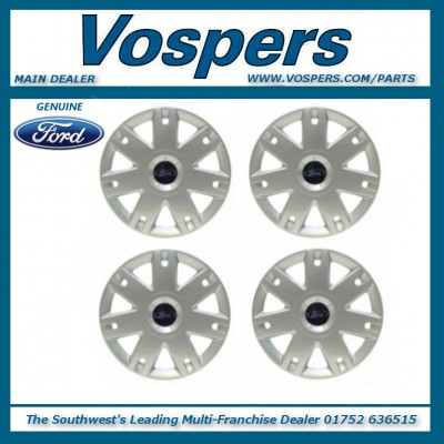 "Genuine Ford Fiesta & Fusion 15"" Wheel Trim Hub Cap Set Of 4. x4"