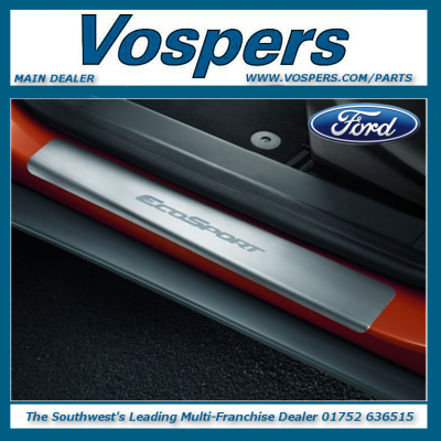 Genuine Ford EcoSport Stainless Steel Look Door Sill Guards
