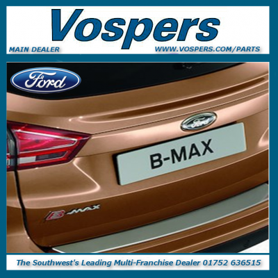Genuine Ford B-MAX Rear Bumper Stainless Steel Effect Protector / Entry Guard