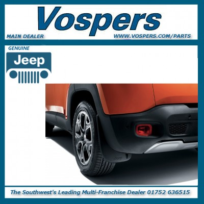 Genuine Jeep Renegade Rear Moulded Mudflaps / Mudguards