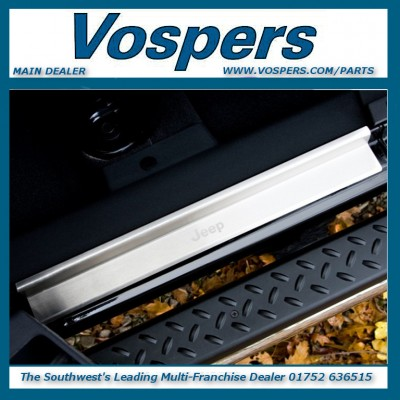 Genuine Jeep Wrangler Front & Rear Stainless Steel Door Sill Guards