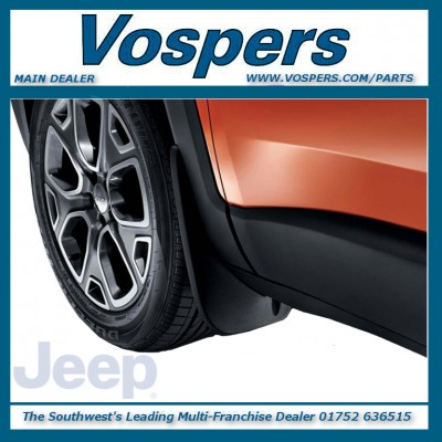 Genuine Jeep Renegade Front Moulded Mudflaps / Mudguards