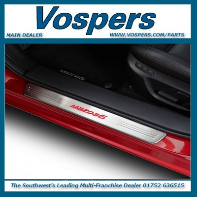 Genuine Mazda 6 Stainless Steel Illuminated Front & Rear Sill Guard Protectors