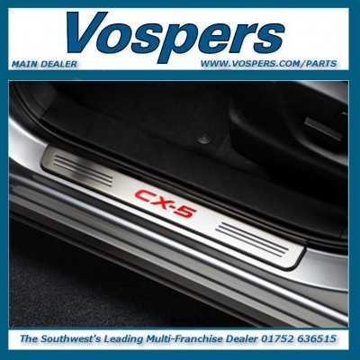 Genuine Mazda CX-5 Illuminated Stainless Steel Front & Rear Sill Guard Protectors