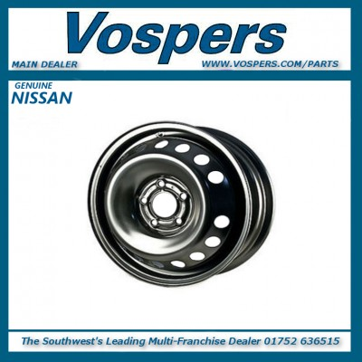 """Genuine Nissan Qashqai J10 & J11 16"""" Space Saver Steel Spare Wheel Rim (Can be fitted with tyre)"""