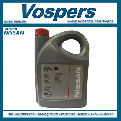 Genuine Nissan 5W30 Engine Oil 5 Litres
