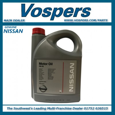Genuine Nissan 5W40 Engine Oil 5 Litres