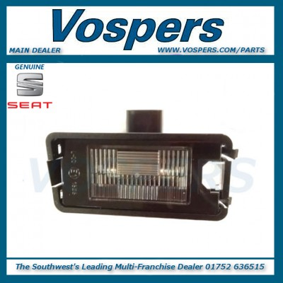 Genuine Seat Leon, Altea, Toledo, Ibiza Rear Number Plate Lamp