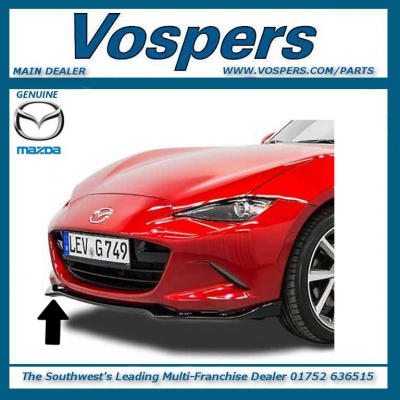 Genuine Mazda MX-5 2015 onwards Front Splitter / Skirt - Black