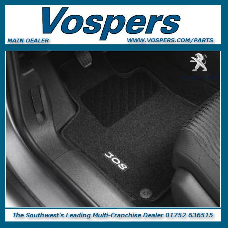 Genuine Peugeot 308 Needle Pile Front & Rear Carpet Mats