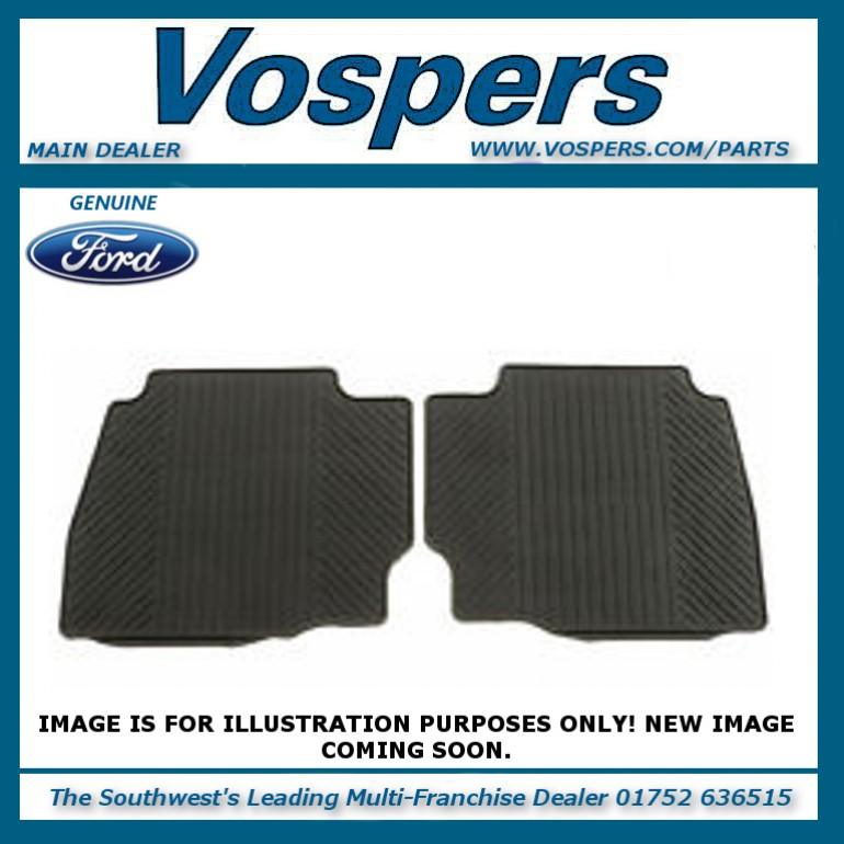 Genuine Ford Fiesta MK9 Rear Rubber Floor Mats